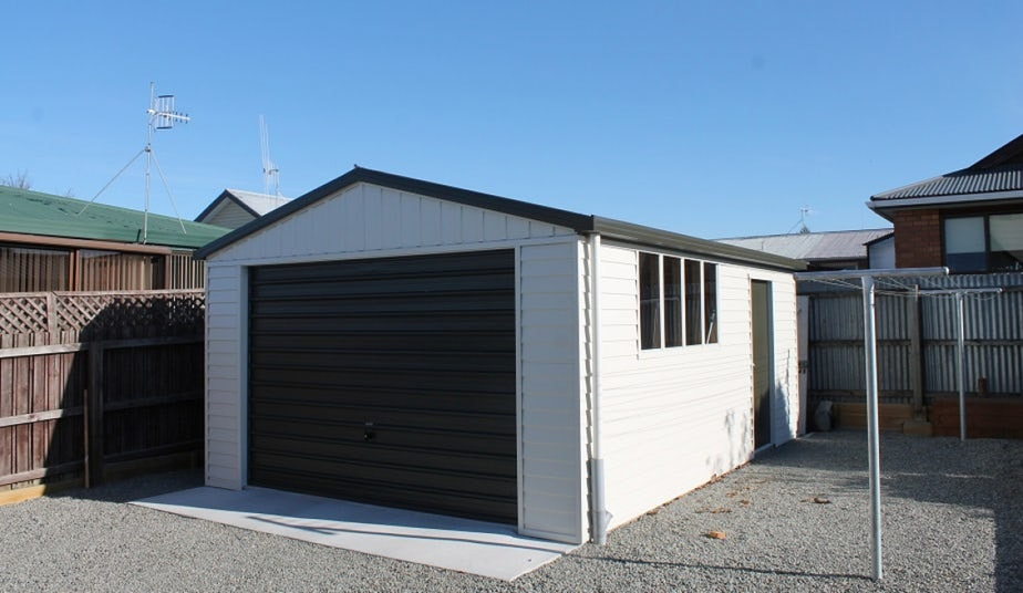 Single Garage With Side Door and Windows