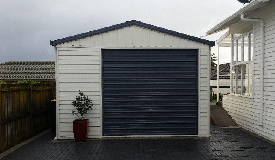 Single Garage With Dark Door